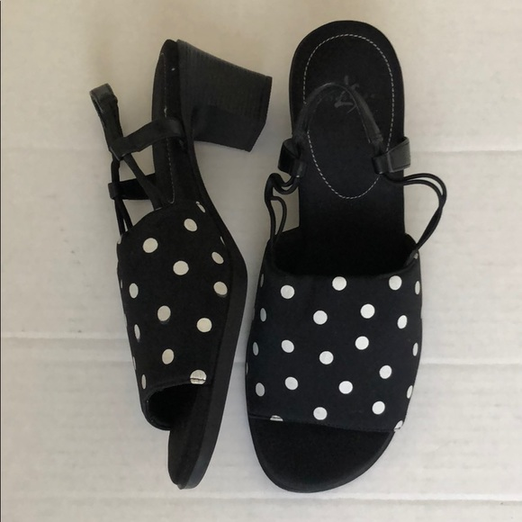 Life Stride Jumper Sling Back Polka Dot Sandals